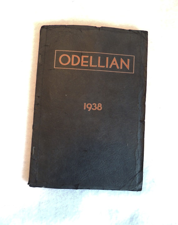1938 Yearbook Annual Odell Oregon High School THE ODELLIAN Real Photos Glued In