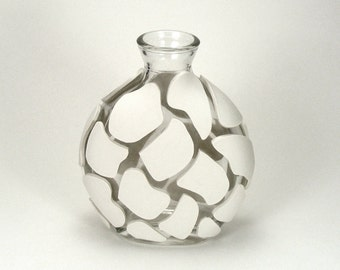 White Clay Giraffe Design Glass Vase - Altitude /  Home Decor, Animal Print, Animal Design