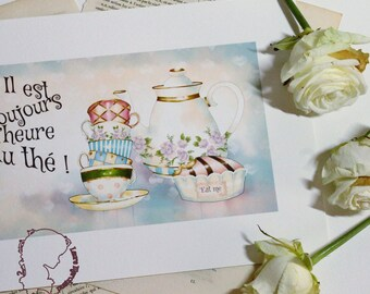 Art print, it's always time for tea - art print