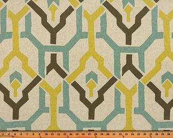 "Pair (Two 50"" wide) designer curtain panels, drapes trellis Puspha Collins laken"