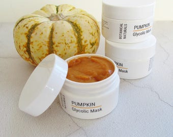 SAMPLE, Pumpkin Glycolic Face Mask, Trial Size, Natural Skin Care