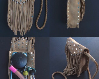 Suede fringe bag. Leather fringe bag. Fringe bag. Suede fringe crossbody bag. Suede bag. Heavy fringe bag. Boho fringe bag. Bohemian fringe