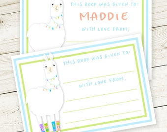 Llama #Bookplates (set of 12) - #Stickers