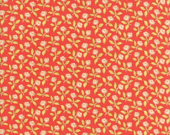 Hazel and Plum - Plum Blossoms in Pomegranate Red: sku 20291-11 cotton quilting fabric by Fig Tree and Co. for Moda Fabrics
