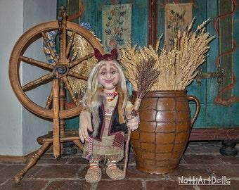Art Doll Fabric Doll Handmade Fantasy Doll Cloth Rag Doll Fantasy Whimsical Doll, Art Doll Witch Doll Baba Yaga Doll FairyTale Doll Magical