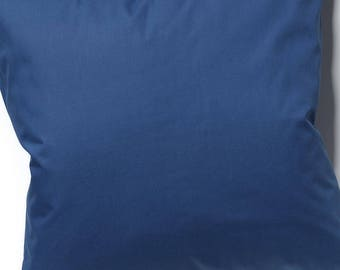 Cushion cover or pillow 50x50cm cotton navy blue
