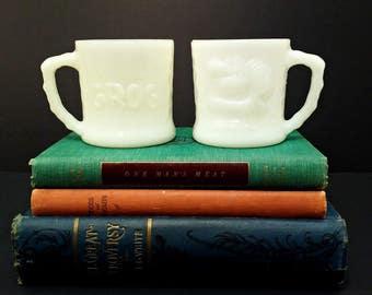 GROG Milkglass Mug Vintage