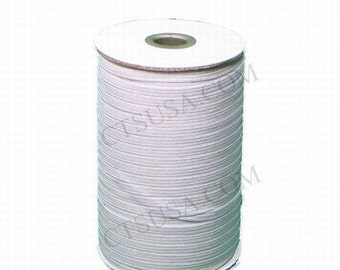 1/4 Inch White SOFT Braided Elastic 144 yds Roll
