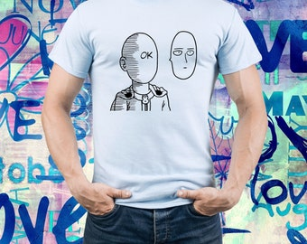 Saitama Ok shirt/ One Punch Man shirt/ Saitama t-shirt/ Saitama funny tee/ Japanese anime/ Mens t shirt/ Men tee/ One-Punch Man/ (B173)