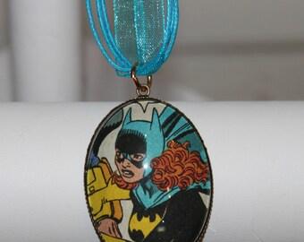 DC Batman Bat Girl Batgirl Bronze Necklace