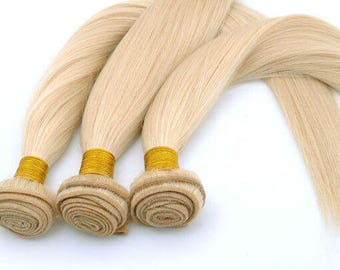 Color #613 Brazilian Human Hair Bundles 16 inch