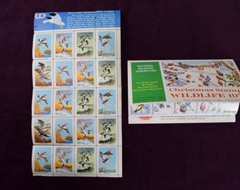 National Wildlife Federation Stamps Seals, Wetlands Conservation