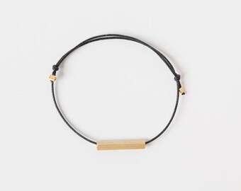 Square Brass Tube Bracelet, Minimalistic Bracelet, Friendship Brass Bracelet, Minimal Tube Bracelet