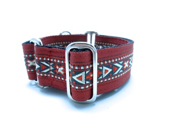 """Houndstown 1.5"""" Banded Aztec Martingale or Buckle Collar Size Small through X-Large"""
