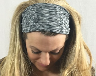 Black Workout Headband, Running Headband, Yoga Headband, Fitness Headband, Wide Headband, Nonslip Headband, Black headband, Women's headband