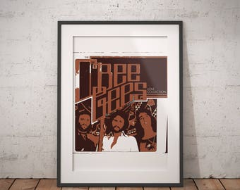 The Bee Gees custom design Hi resolution digital wall art printable file