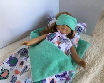 SLEEPING BAG with matching PAJAMAS & sleep mask