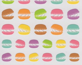 Japan Mind Wave kawaii MACARON sticker sheet/Joy