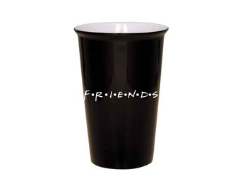 Friends Latte Mug - Friends Logo - Laser Engraved - Your Choice Mug Color -  F.R.I.E.N.D.S TV Show - 020