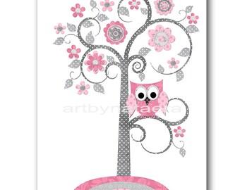 INSTANT DOWNLOAD Tree Nursery Print Printable Art Nursery Digital Download Children Art Baby Girl Nursery Digital Download Art 8x10 11X14