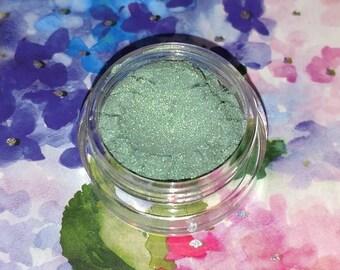 Mermaid Scales - bright luminous green mineral eyeshadow 5 gram jar VEGAN