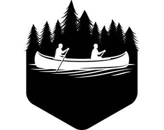 Kayak Logo 10 Kayaking Canoe Whitewater River Rafting Ore Row Rowing Wagon Trip SVG