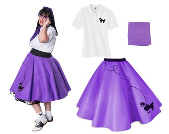 3 pc 50's Adult POODLE SKIRT Outfit-Plus Size