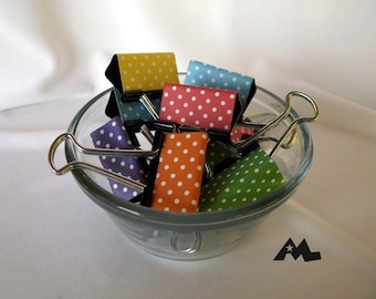 "Binder Clips - ""Polka Dot Mix"""