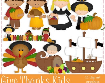 Commercial Use Clip Art | Give Thanks Thanksgiving Graphics | MarloDee Designs