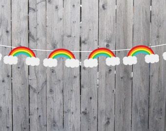 Rainbow Garland, Rainbow Banner, Rainbow Sign, Rainbow Birthday, Rainbow Party, Rainbow Decorations, Rainbow Baby Shower