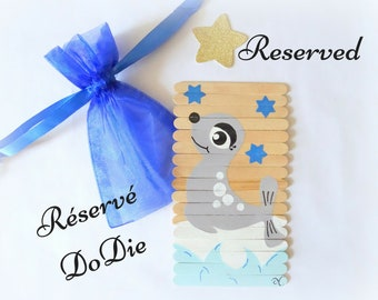 RESERVED - Puzzle for kids, Seal puzzle, Wooden puzzle, Puzzle for childrens, Busy bag activity, Travel game, gift for boys or girls