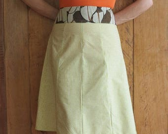 """SALE 40 instead of 48 - 50's skirt 'Palm sugar""""T S/M"""