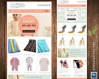 Email Newsletter PSD Template E-commerce Newsletter Blast