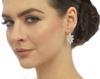 crystal earrings, bridal earrings, wedding earrings, wedding jewelry, bridal jewelry, earrings, wedding gift, drop earrings, gift woman,