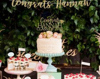Graduation cake topper, grad cap cake topper, personalized graduation cake topper, high school graduation decorations graduation topper 2018