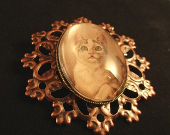 Copper Cat Pin