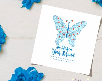 Butterfly Boho Logo Small  Business, Brand, Logo, Company, Unique Logo, Web, Custom Logo Boutique Etsy Logo, Logo Etsy Shop