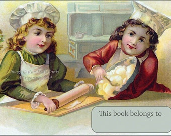 Little Chef Bookplates - Children Bake and Cook - Pack of Ten