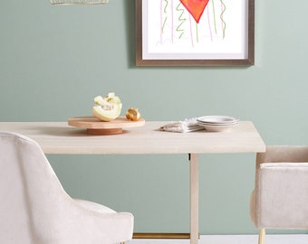 Red rhomb, abstract modern wall art, print decor