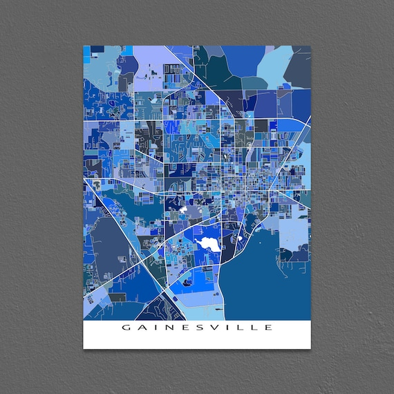 Gainesville Map Print Gainesville FL University Of Florida
