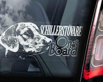 Schillerstövare on Board - Car Window Sticker - Schiller Bracke Dog Sign Decal - V01