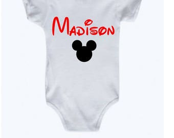 Personalized future disney addict announcement onesie personalized mickey mouse shirt with baby name onesie disney personalized custom onesie baby gift for disney lover future disney romper negle Image collections