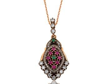 Silver Necklace Authentic Petunia - IJ1-1746