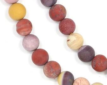 Mookaite Beads - Matte Finish - 6mm Round