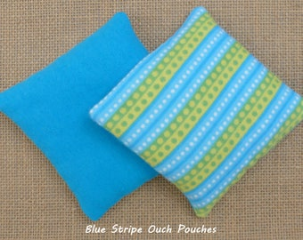 Ouch Pouch, Boo Boo Bag, Blue Stripes, Ear Aches, Reusable Hot Cold Pack, Rice Bag, Kids Therapy, Microwave, Owie Pack, InHer Inner Peace