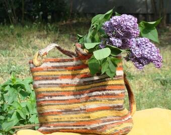 Multicolor bag Crochet bag Rainbow bag Rainbow crochet Multicolour tote bag Boho bag Woman Gift Hippie bag Large handbag Bag for girl