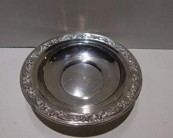 Gorham Sterling Bowl With Filigree Design