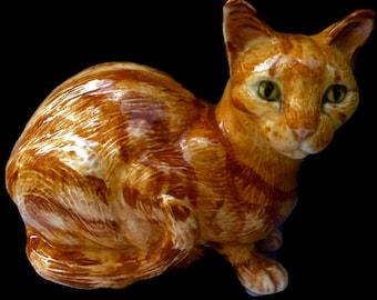 Cat figure, Cat sculpture , cat model, cat gift, cat figurine Abby, hand-painted cat by Clare McFarlane