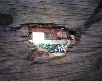 Brooklyn Graffiti Photograph, 8x10 Matted Photograph
