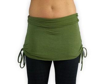 Green Adjustable Fit Yoga Skirt- Mini Skirt